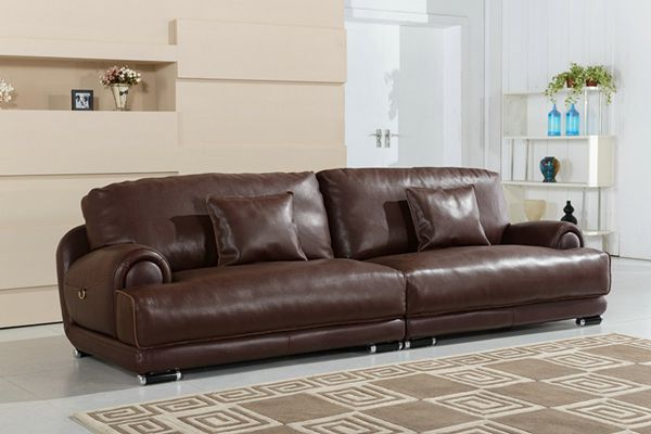 U. K. Modern Living Room Furniture Genuine Leather Sofa