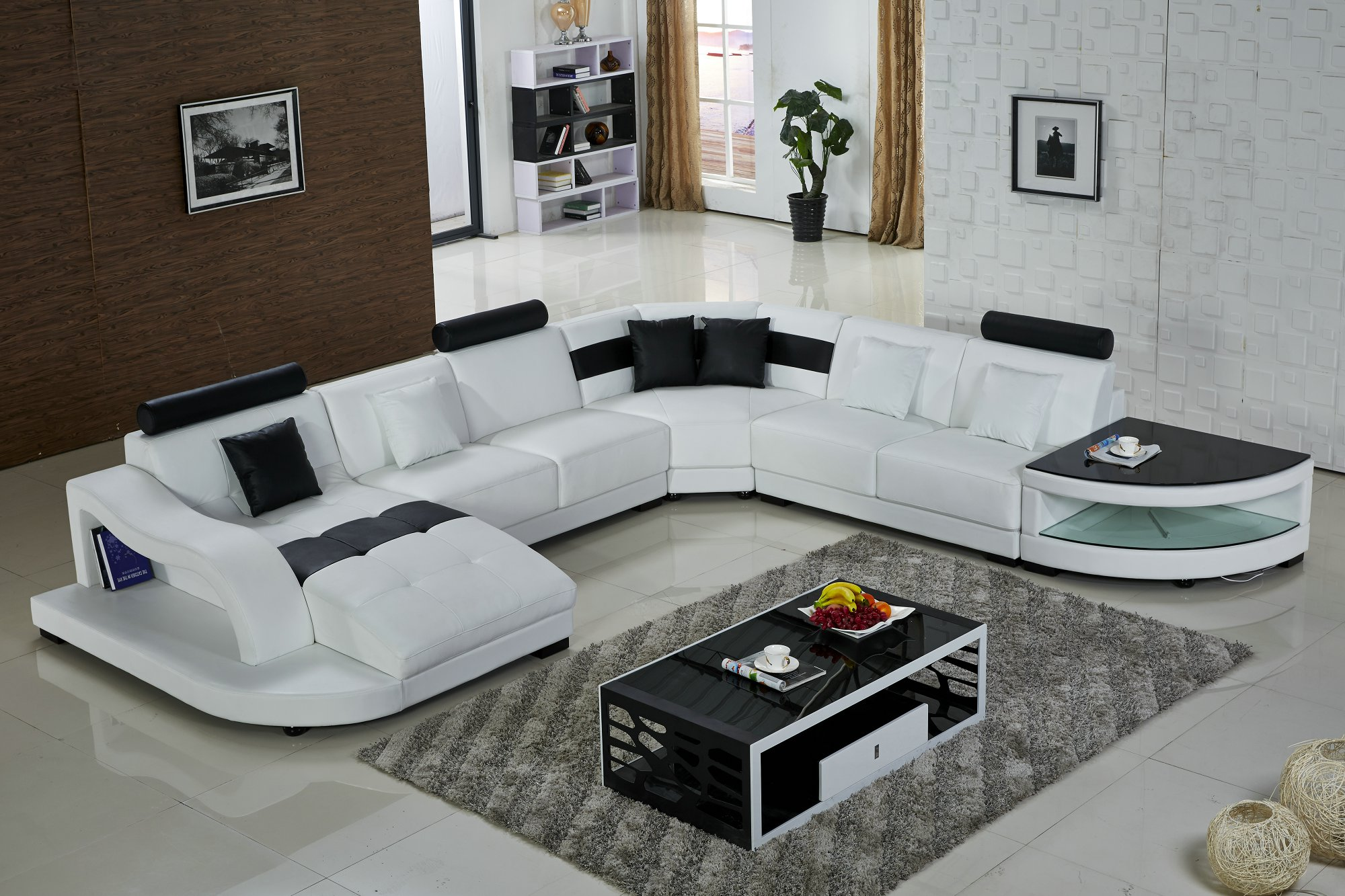... U.K. Home Living Room Furniture Leather Sofa H2217 ...