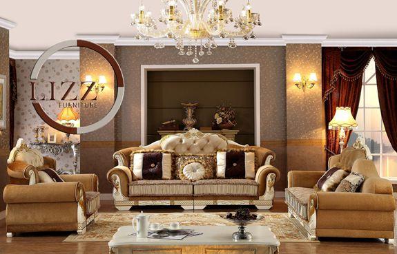 Living Room Fabric Sofa Set Y1505