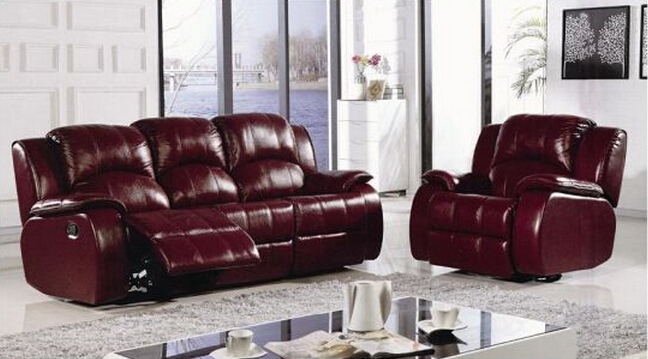 Sofa Design Leather Office Functional Sofa Set L. P. 07A23