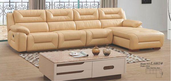 Kenya Functional Leather Sofa (L. 6863)