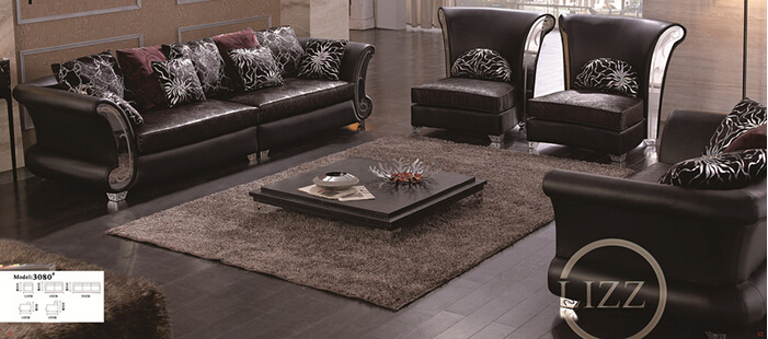 Living Room Furniture Genuine Leather Sofa