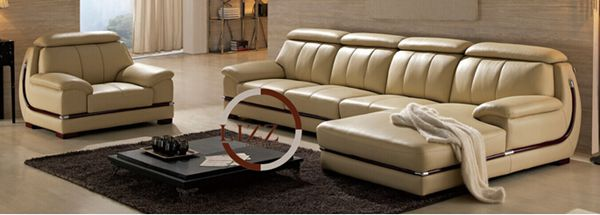 Furniture New Product Leather Sectional Sofa (L. P. 3063)
