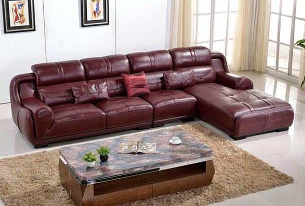Indonesia Modern Furniture Leather Sofa Set