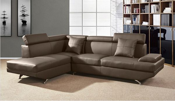 Faux Leather Sectional Sofa (L. A16)