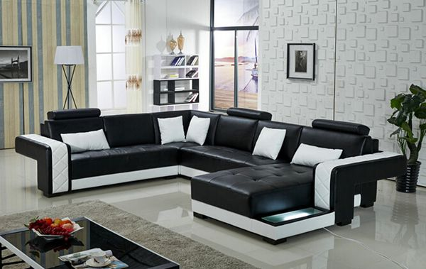 Black U Shape Sofa U Sofa