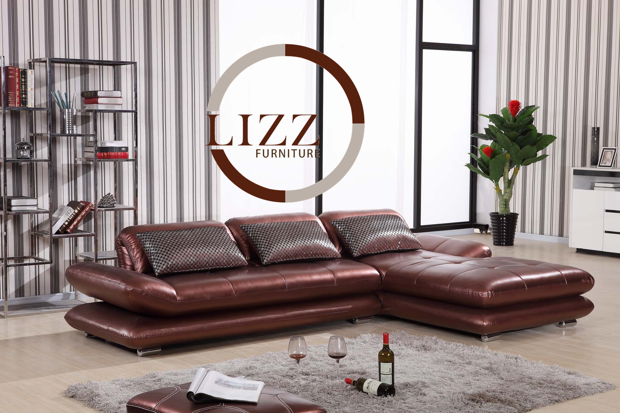 2015 Furniture Leather Sofa L.AL503