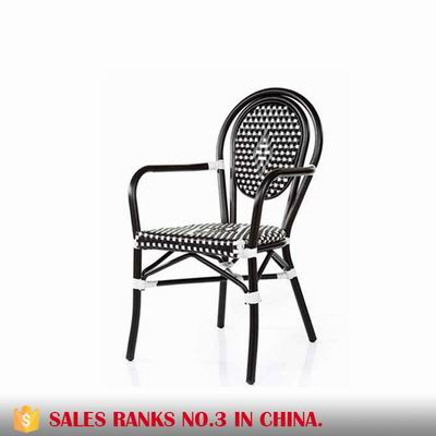 Aluminum Synthetic Rattan Stackable Outdoor Chair AE6061