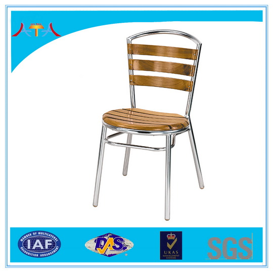Patio cast aluminum antique wooden outdoor furniture AT-8017   coffee chair