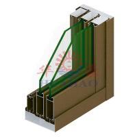 TC898A Series Of Sliding Aluminium Profile Three Tracks (With Yarn)