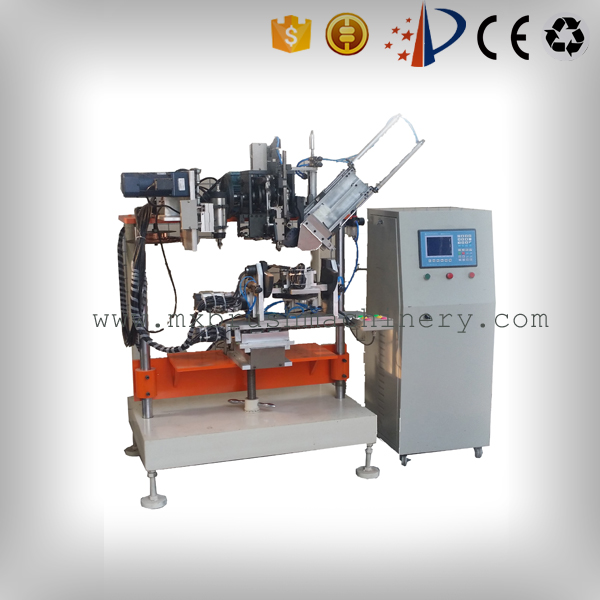 MEIXIN-Brush Drilling Machine, Mxf182 4 Axis 2 Heads Drilling And Tufting Brush Machine