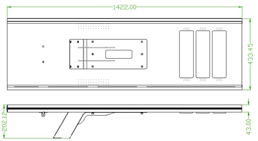 SLD-SL-380 80W All In One Solar Led Street Light