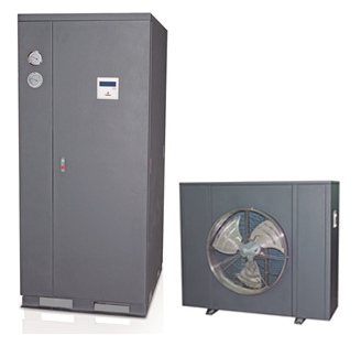 Commercial air to water heater