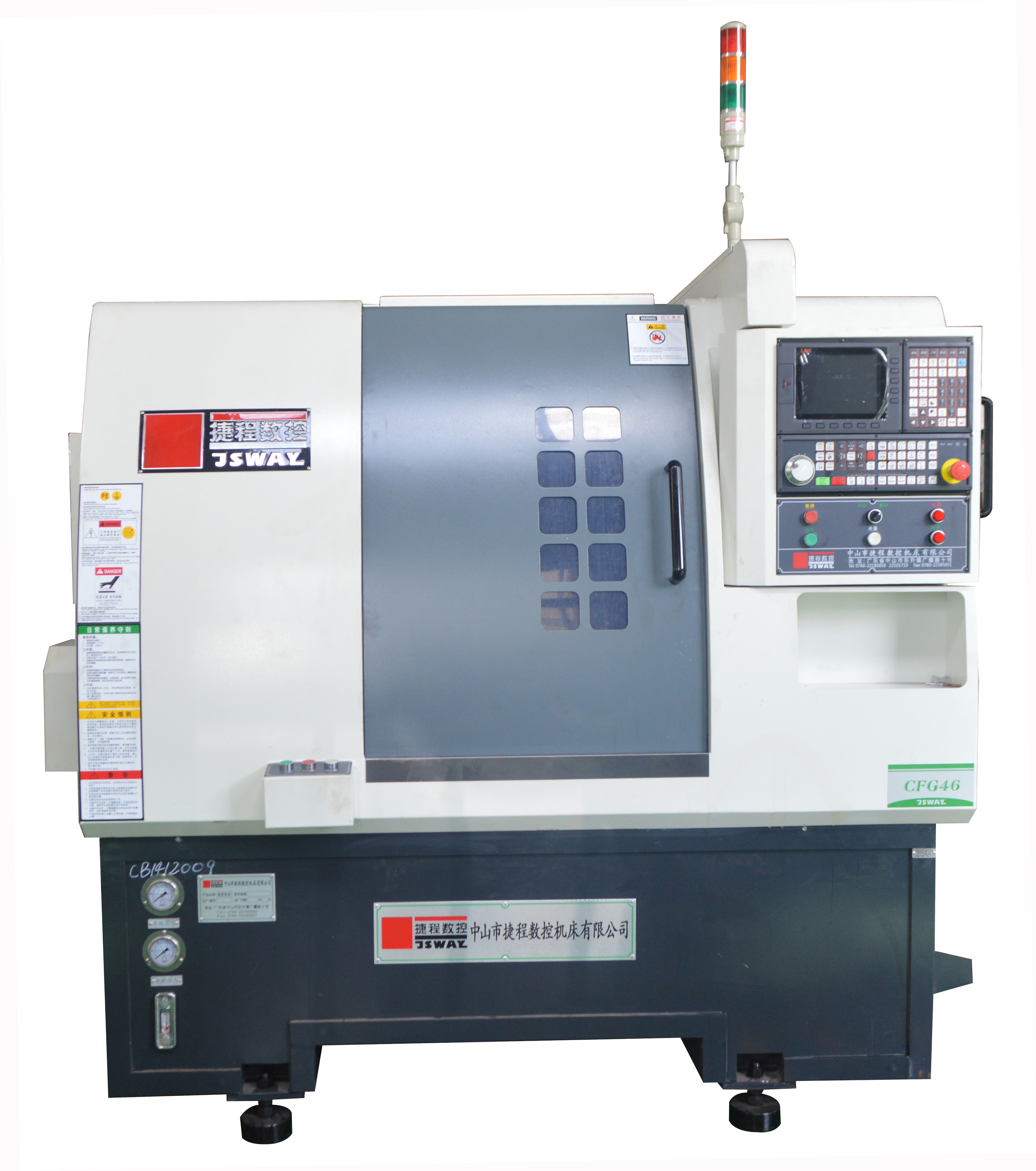 cnc lathe machine operation. cfg46 2-axis gang type cnc lathe machine operation