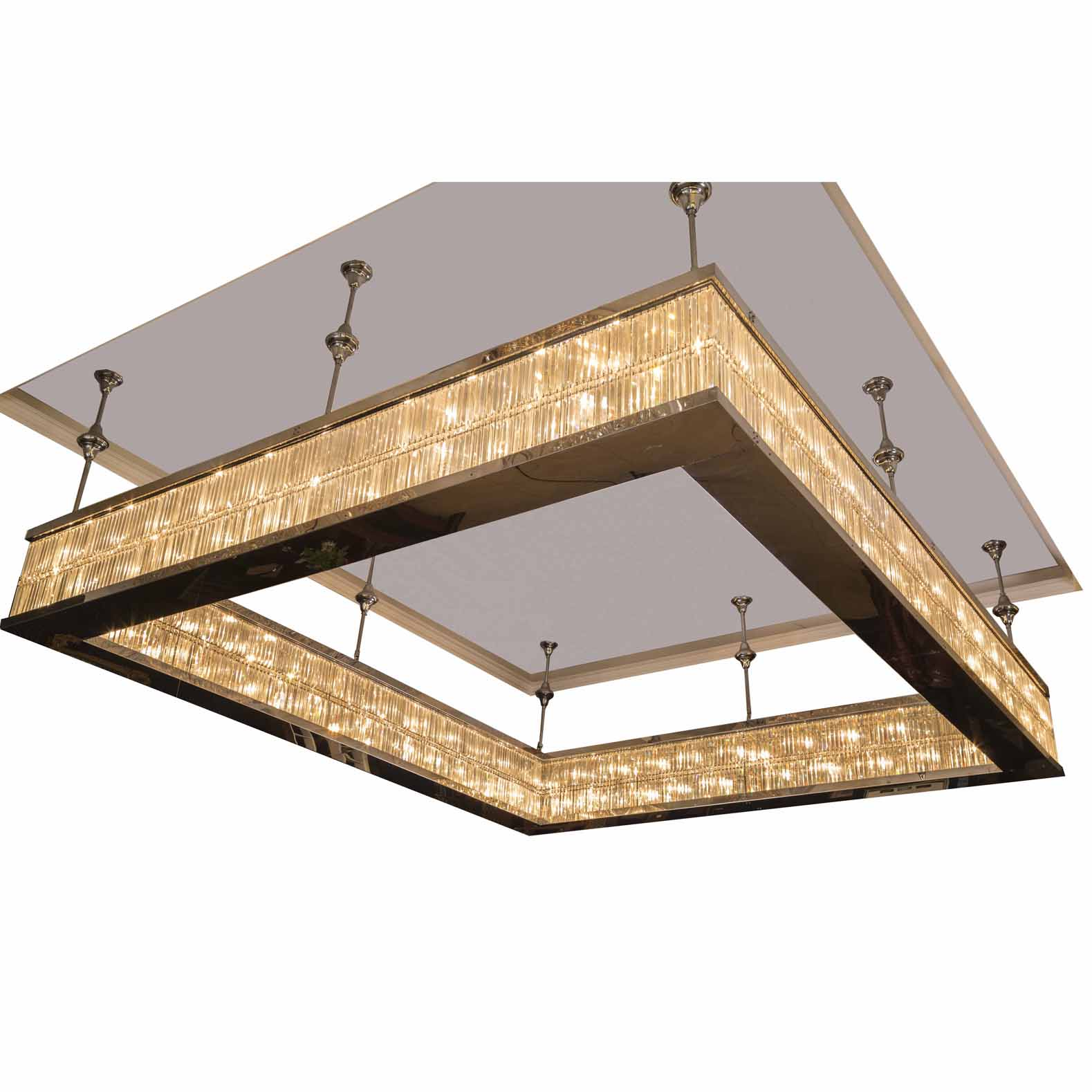 Crystal Chandelier Light (MD217-6608-square)