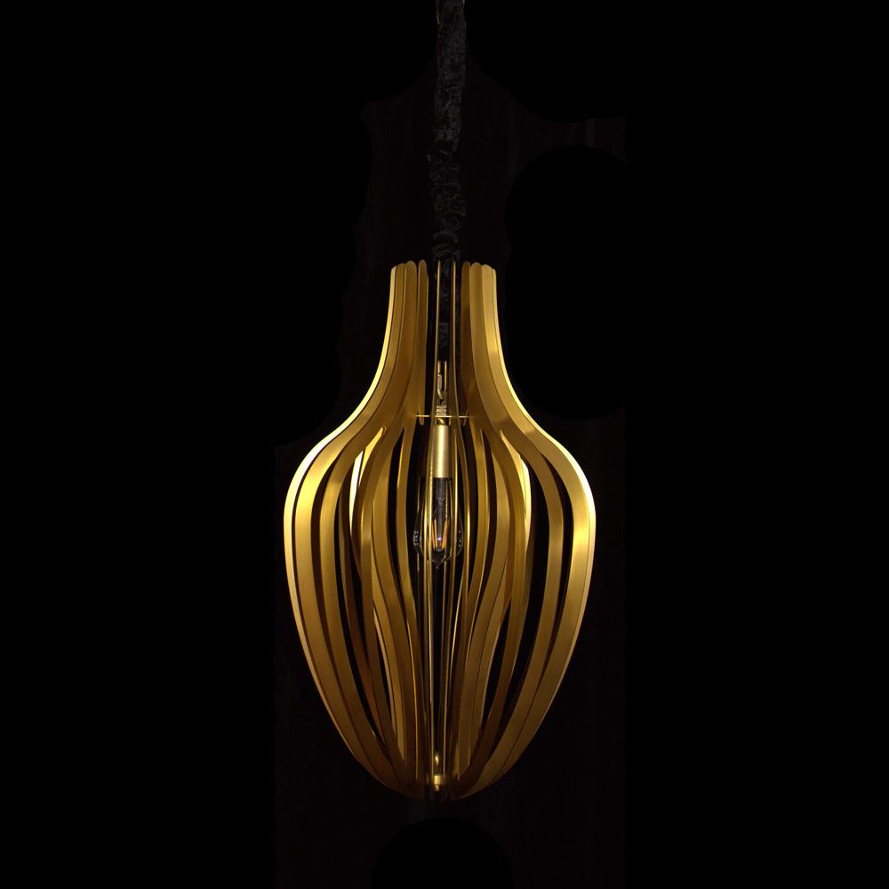 Copper Pendant light (D350 H600)
