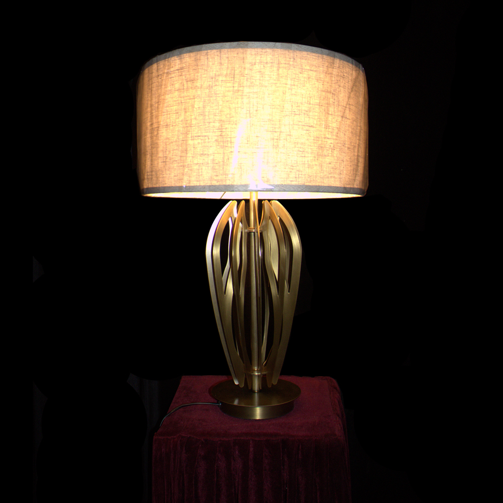 chrome and glass table lamps hotel western table lamps EME LIGHTING Brand