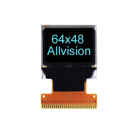 单色OLED显示器0.66英寸64 * 48