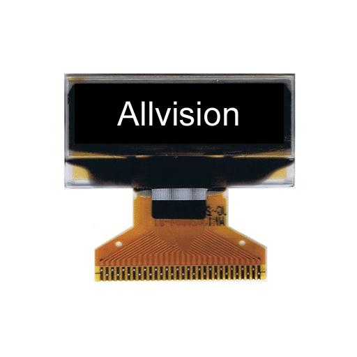 单色OLED显示屏1.04'' 128 * 32