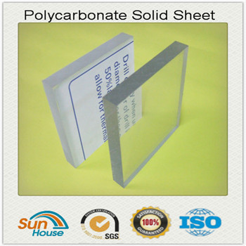 1mm to 20mm solid Polycarbonate sheet