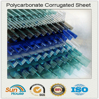 different color Polycarbonate Corrugated Sheet