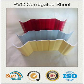 Trapezoid shape PVC corrugated sheet