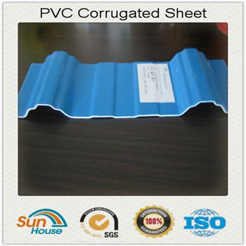 3 walls PVC corrugated sheet