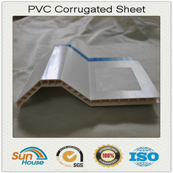 Hollow PVC corrugated sheet