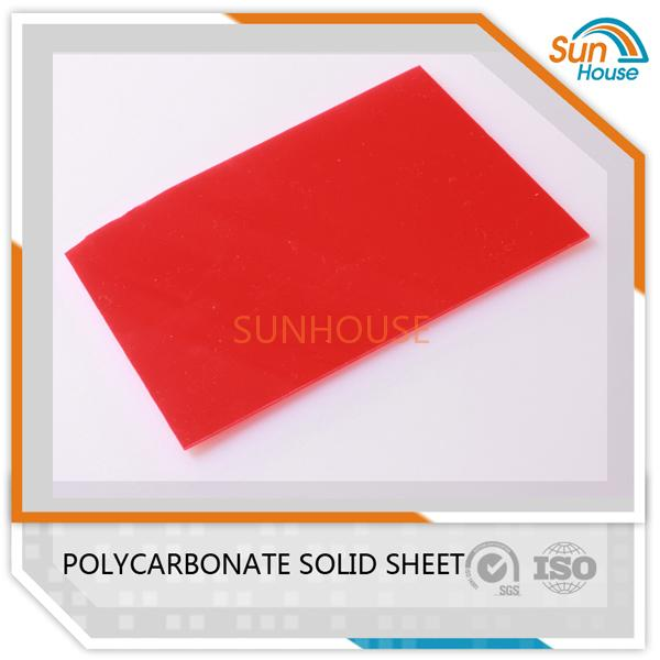 Red PC Solid Sheet