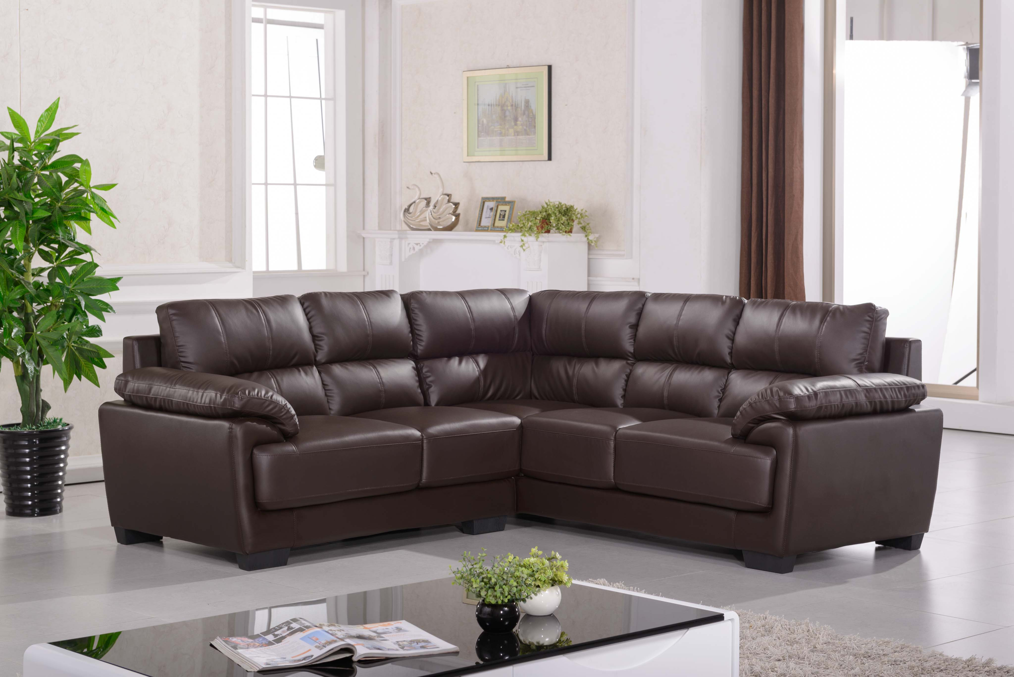 African Living Room Fabric and Leather Sofa Covers Leather Sofa