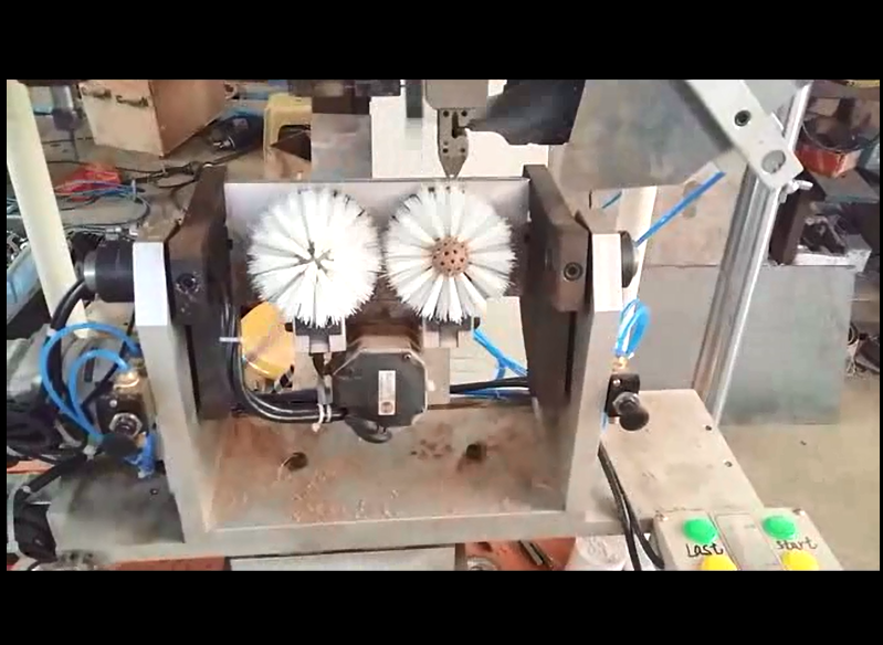 4 axis 1 drilling and 1 tufting machine