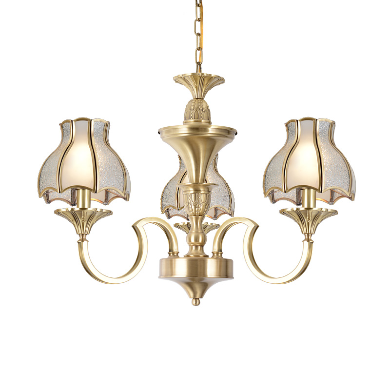 EME LIGHTING Brand unique round antique brass chandelier elegant factory