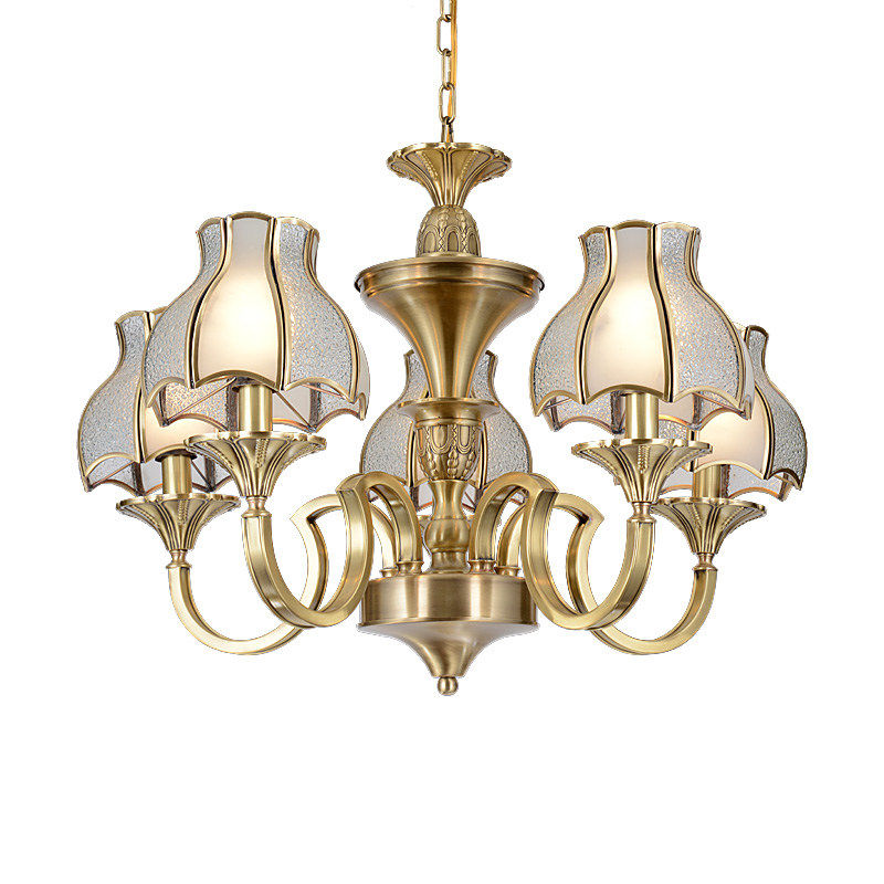 Custom tiffany antique brass chandelier pendant EME LIGHTING