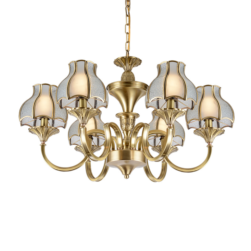 round luxury decorative residential antique brass chandelier EME LIGHTING