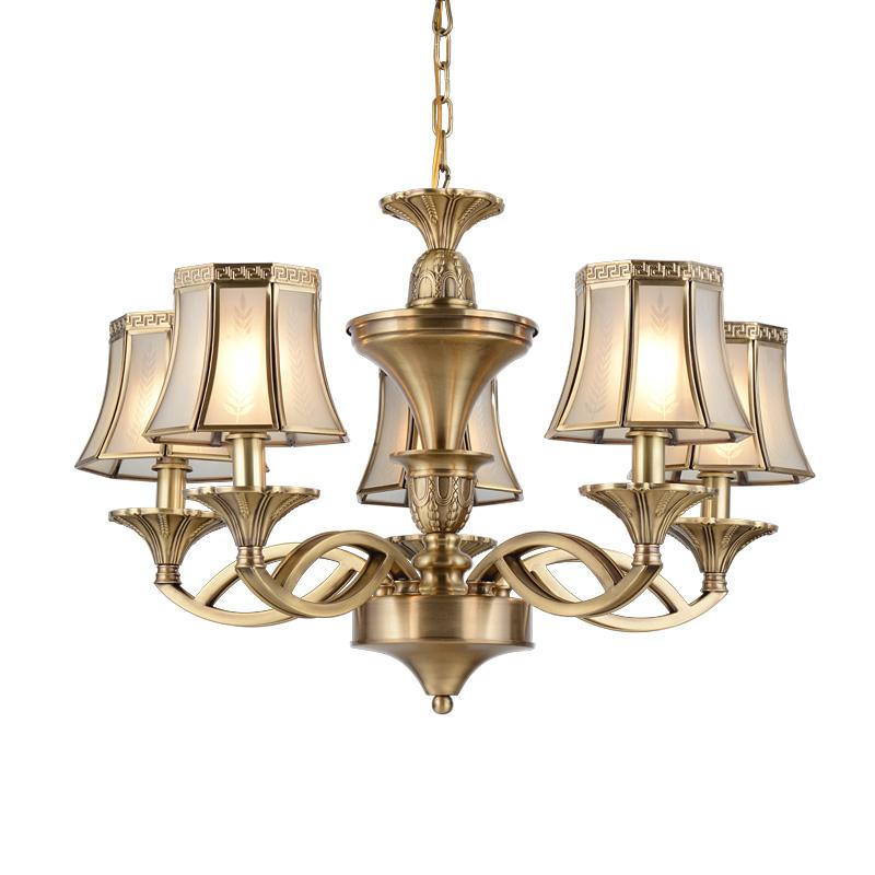 big copper glass decorative chandeliers EME LIGHTING manufacture