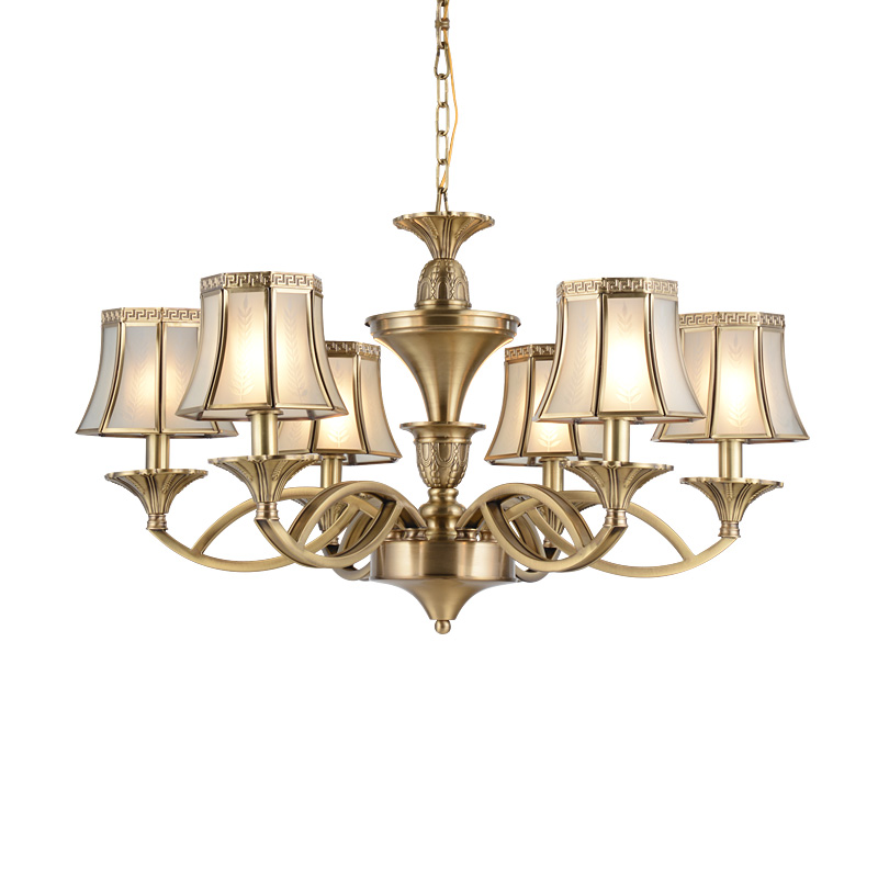 glass luxury antique brass chandelier home EME LIGHTING Brand company