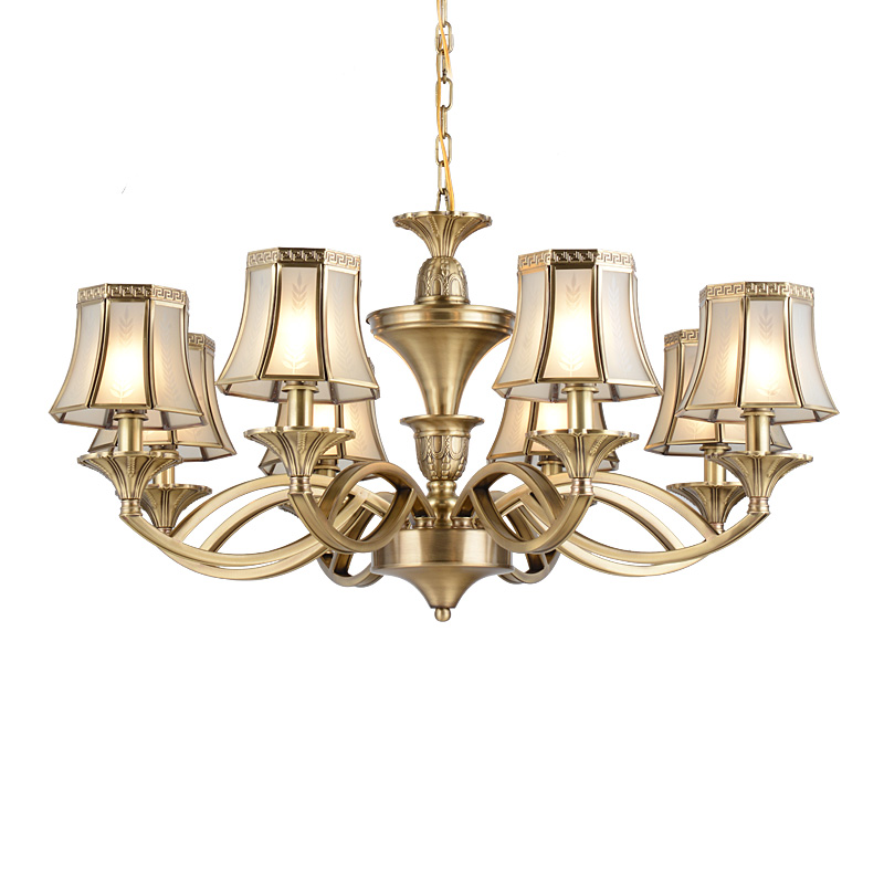 concise solid brass chandelier round for dining room