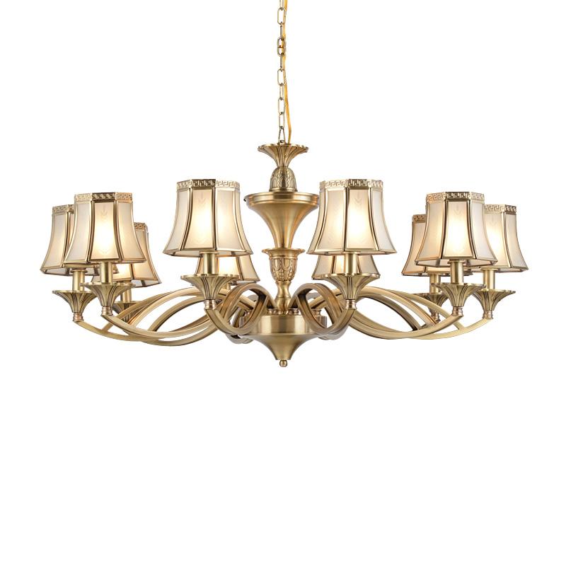 EME LIGHTING glass hanging polished brass chandelier European for home