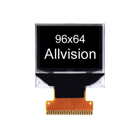 单色OLED显示屏 0.95'' 96*64