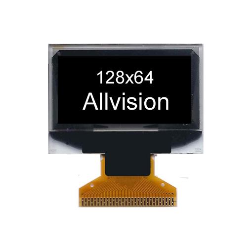 单色OLED显示屏1.3'' 128 * 64