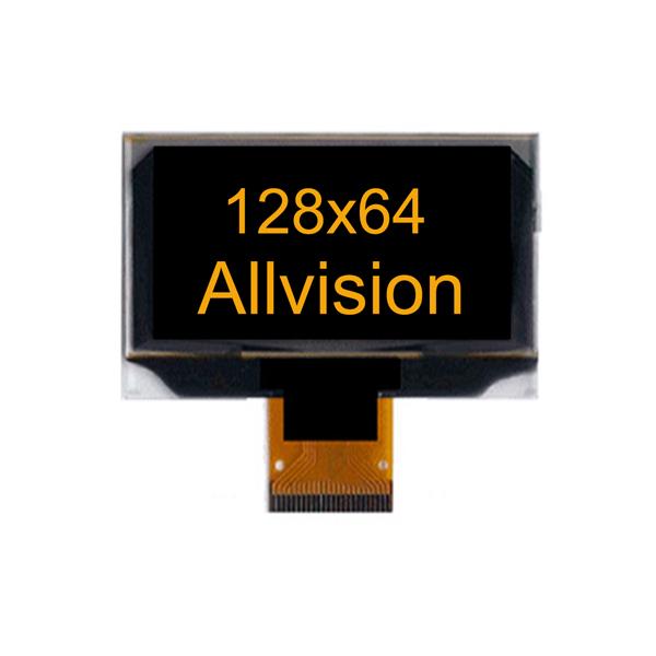 """单色OLED显示器2.42"""" 128×64"""
